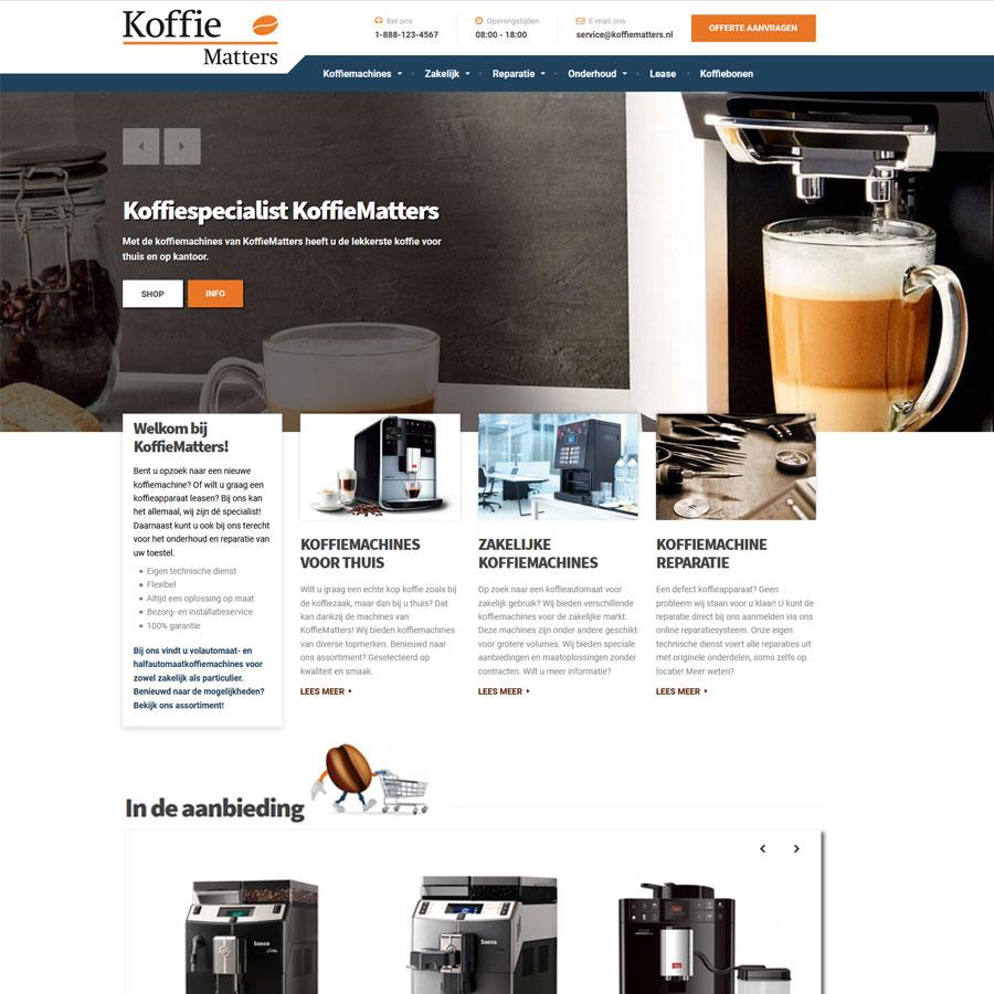 Nieuwe website KoffieMatters
